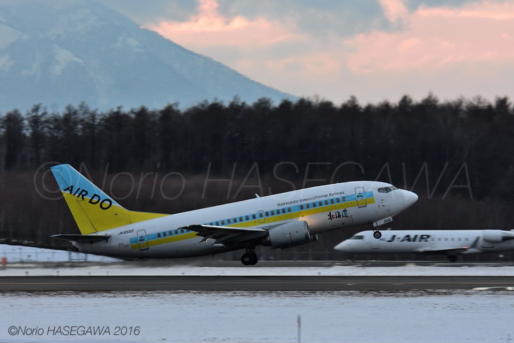 AIR DO's BOEING 737-500, Last Take-off from NEW CHITOSE.